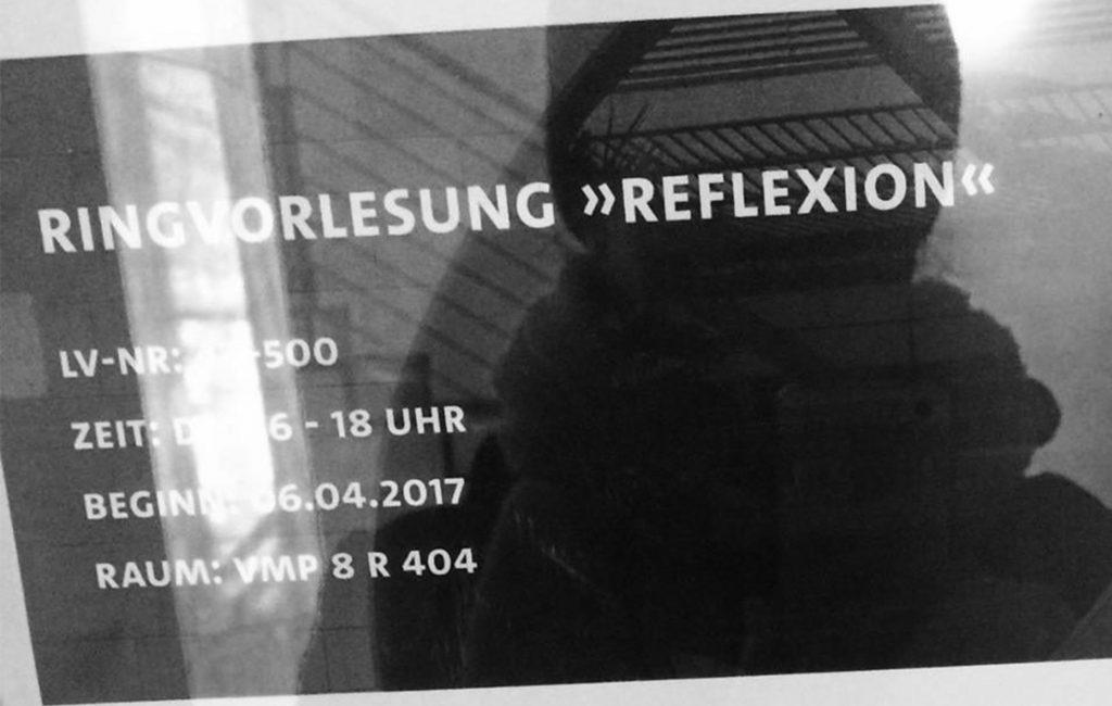 RINGVORLESUNG 'REFLEXION' UNIVERSITÄT HAMBURG